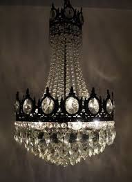 Cheap Chandeliers Ebay Antique French Basket Style Brass U0026 Crystals Chandelier 1950 U0027s