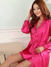 robe de chambre dentelle robe de chambre satin soie pyjamas femme moyen soie polyester