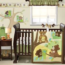 Jungle Themed Nursery Bedding Sets by Lambs U0026 Ivy Bedtime Originals Honey Bear 3 Piece Crib Bedding Set