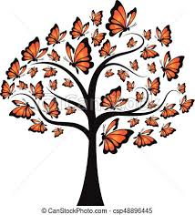 monarch butterfly tree eps vector search clip illustration