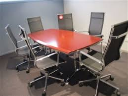 Timber Boardroom Table Timber Boardroom Table On Chrome Frame 1800mm X 970mm X 750mm H