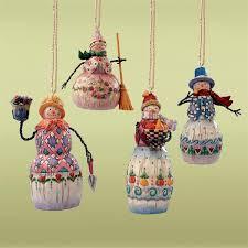 Jim Shore Christmas Ornaments by Jim Shore U00274 Assorted Small Snowmen Hanging Ornaments U0027 113110