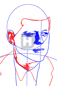 how to draw john f kennedy jfk step by step drawing guide by