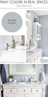 solitude by benjamin moore looks amazing in this bathroom designed krypton sw 6247 by sherwin williams see paint colors in real spaces in