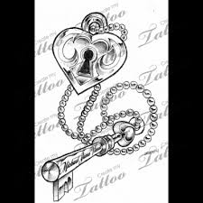 lock and key tattoocom tattoo tattoos pinterest key tattoo