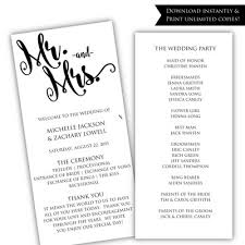 printable wedding programs wedding programs posh pixel designs online store powered by
