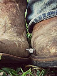 country engagement rings and engagement photo idea hold the ring between his
