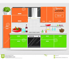 modern graphic kitchen interior design colorful kitchen with