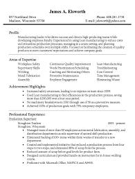 Plant Supervisor Resume Tour Production Manager Resume Example Of Marketing Resume Bpjaga