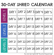 30 day calendar printable calendar template 2017