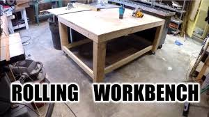 Rolling Work Bench Plans Diy Awesome Rolling Work Bench The Handyman Youtube