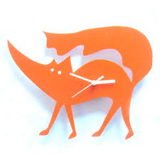 matthew the fox orange acrylic clock foxes pinterest