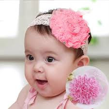 big flower headbands 1pc new high quality kids headband big flowers lace newborn