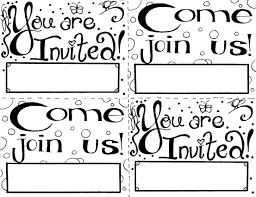 10 images of party invitation coloring pages birthday invitation