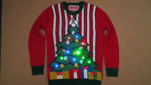 light up xmas pictures lightup christmas tree jumper youtube