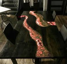 live edge river table epoxy image result for live edge metallic epoxy table woodworking