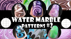 water marble patterns 2 how to basics nail art design