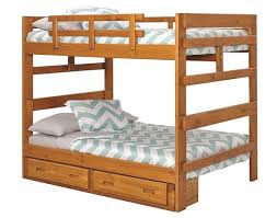 woodcrest heartland full over full bunk bed 2654 woodcrest