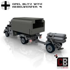 opel blitz custombricks de custom ww2 opel blitz with nebelwerfer 41