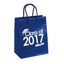 blue gift bags blue class of 2017 graduation party gift bags 6 count walmart