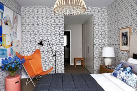 Wallpaper Ideas For Sitting Room - 25 awesome rooms that inspire you to try out geometric wallpaper