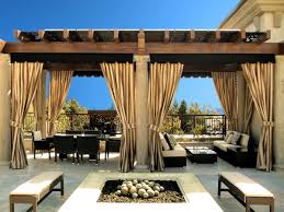 Concrete Pergola Designs by Classic Balcony Design With Stripes Outdoor Pergola Curtains And