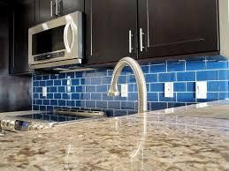 affordable modern glass tile kitchen backsplash home design and