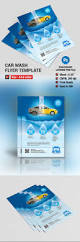 car wash flyer template on behance