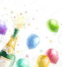chagne celebration theme with splashing chagne
