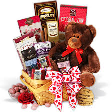 chocolate baskets teddy chocolates gift basket flowers plants and gifts