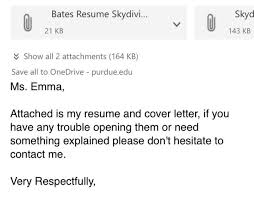 student sends brilliant resume to looking for a skydiving