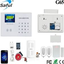 saful wireless intelligent home security alarm system g65 with 8