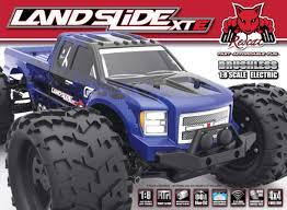 1 24 scale monster jam trucks landlide xte 1 8 scale brushless electric monster truck