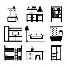 set of interior design icons u2014 stock vector svitlana samokhina