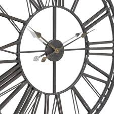 Large Mirrored Wall Clock Skeleton Mirrored Wall Clock Gallery Accessories
