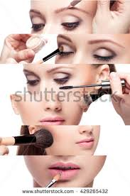 Professional Make Up Contouringmake Woman Face Contour Highlight Makeup Stock Photo
