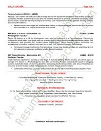 Resume Samples For Teacher by Preschool Teacher Resume