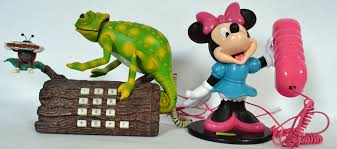 retro chameleon phone minnie mouse novelty phone