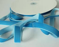 velvet ribbon by the yard blue velvet ribbon etsy