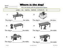 esl kids worksheets home and prepositions worksheets