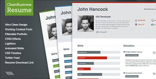 Free Resume Website Templates 27 Best Html Resume Templates Wakaboom