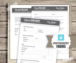 photography business forms client agreement print release
