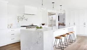 8 stunning carrara marble kitchens mydomaine