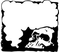 Halloween Border Clipart Skull Frame