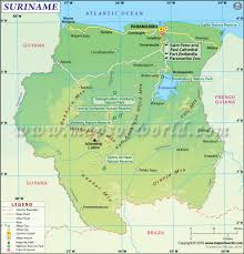 South America Rivers Map by Suriname Map Map Of Suriname