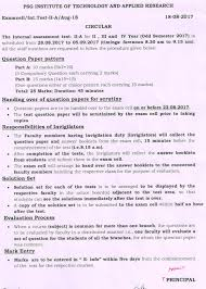 how to write an applied research paper psg institute of technology and applied research coimbatore internal assessment test ii a for ii iii and iv year odd semester 2017