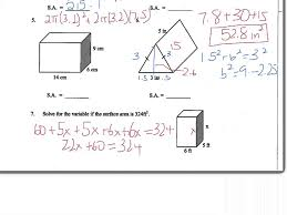 Volume Of Rectangular Prisms Worksheets Worksheet Surface Area Youtube