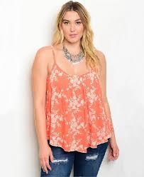 blouse plus size plus size coral white blouses spaghetti straps fashintent