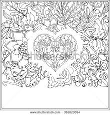 hand drawn floral pattern decorative love stock vector 361823006