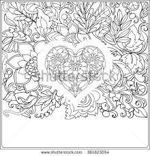 vector illustration abstract heart on black stock vector 340285742